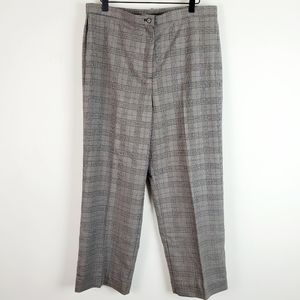 Focus 2000 High Rise Straight Leg Plaid Pants